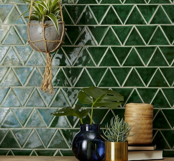 New Terracotta Field Tiles Tria S B040 Forest Green