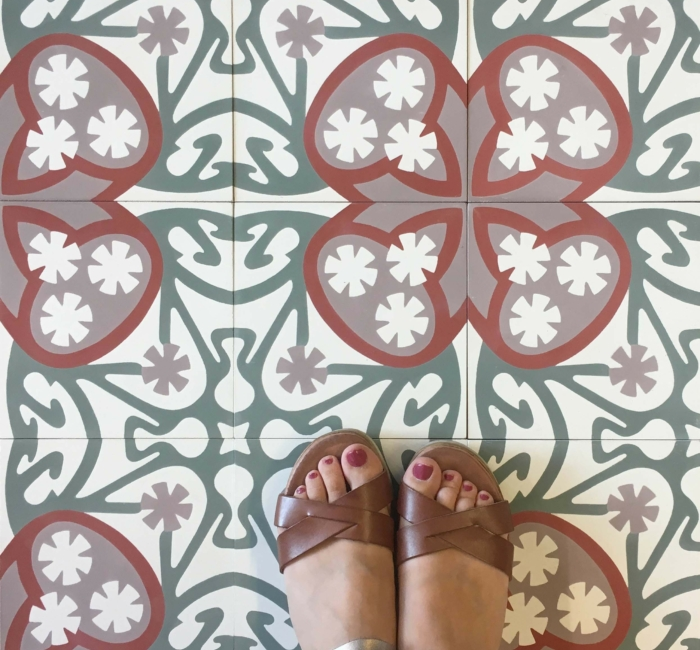 Cement Tile Flower
